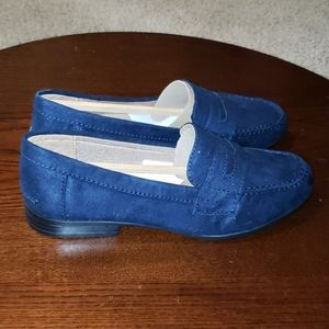 Life Stride Madison Loafers sz 5 Navy Blue Suede